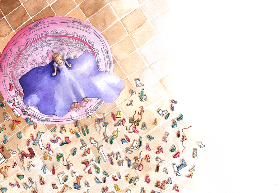 Illustratie uit De schoenenprinses