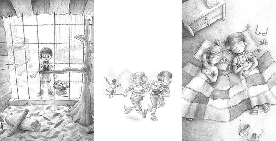 Illustratie uit Opa en oma zuurkool